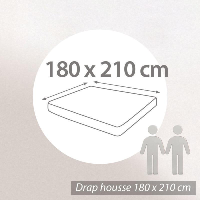 Drap housse uni 180x210 100 coton alto blanc ebay for Drap housse 180