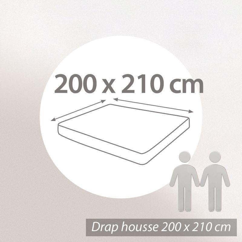 Drap housse 200x210cm uni pur coton ALTO gris Calcium | Linnea