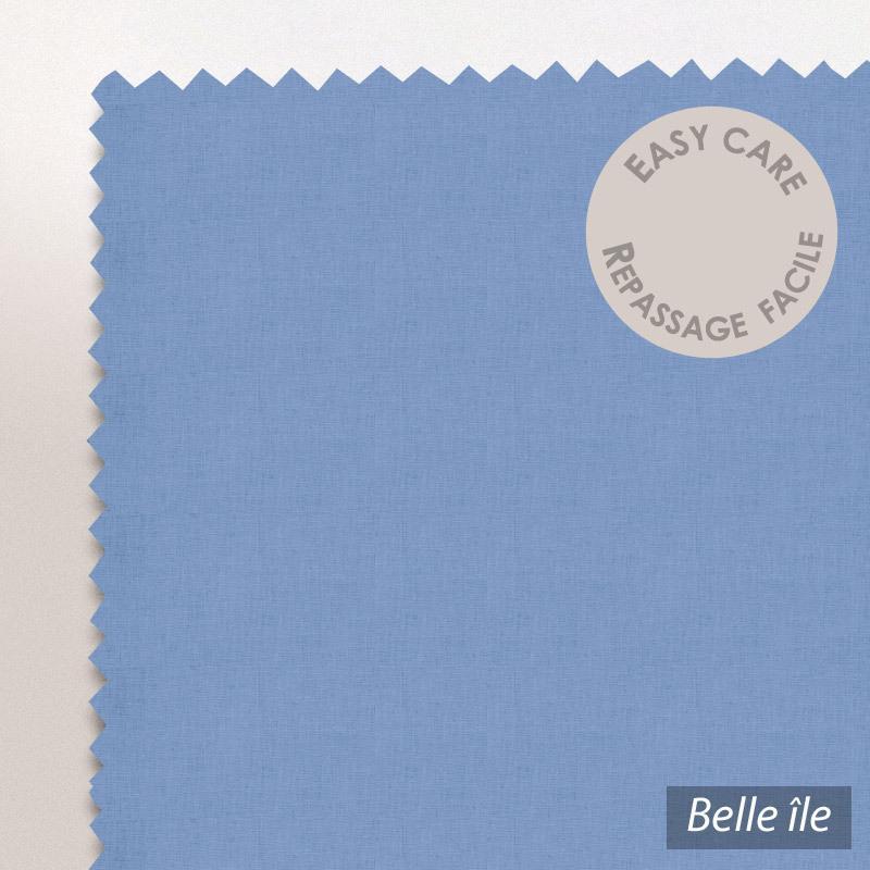drap housse 200x220cm uni pur coton alto bleu belle ile linnea linge de maison et. Black Bedroom Furniture Sets. Home Design Ideas