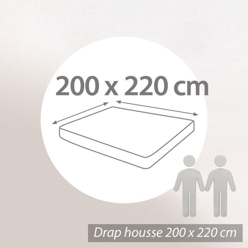 drap housse 200x220 Drap housse 200x220cm uni pur coton ALTO gris Manhattan | Linnea  drap housse 200x220