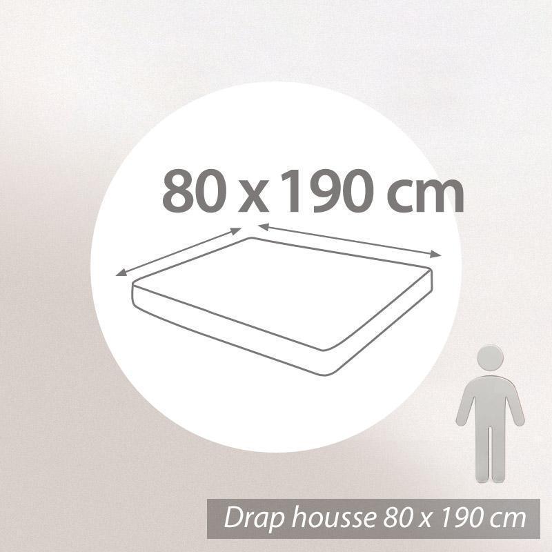 drap housse 80x190cm uni pur coton alto bleu belle ile linnea linge de maison et. Black Bedroom Furniture Sets. Home Design Ideas