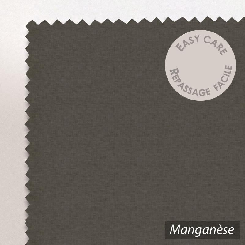 Drap housse 80x200cm uni pur coton alto marron mangan se - Draps housse 80 x 200 ...