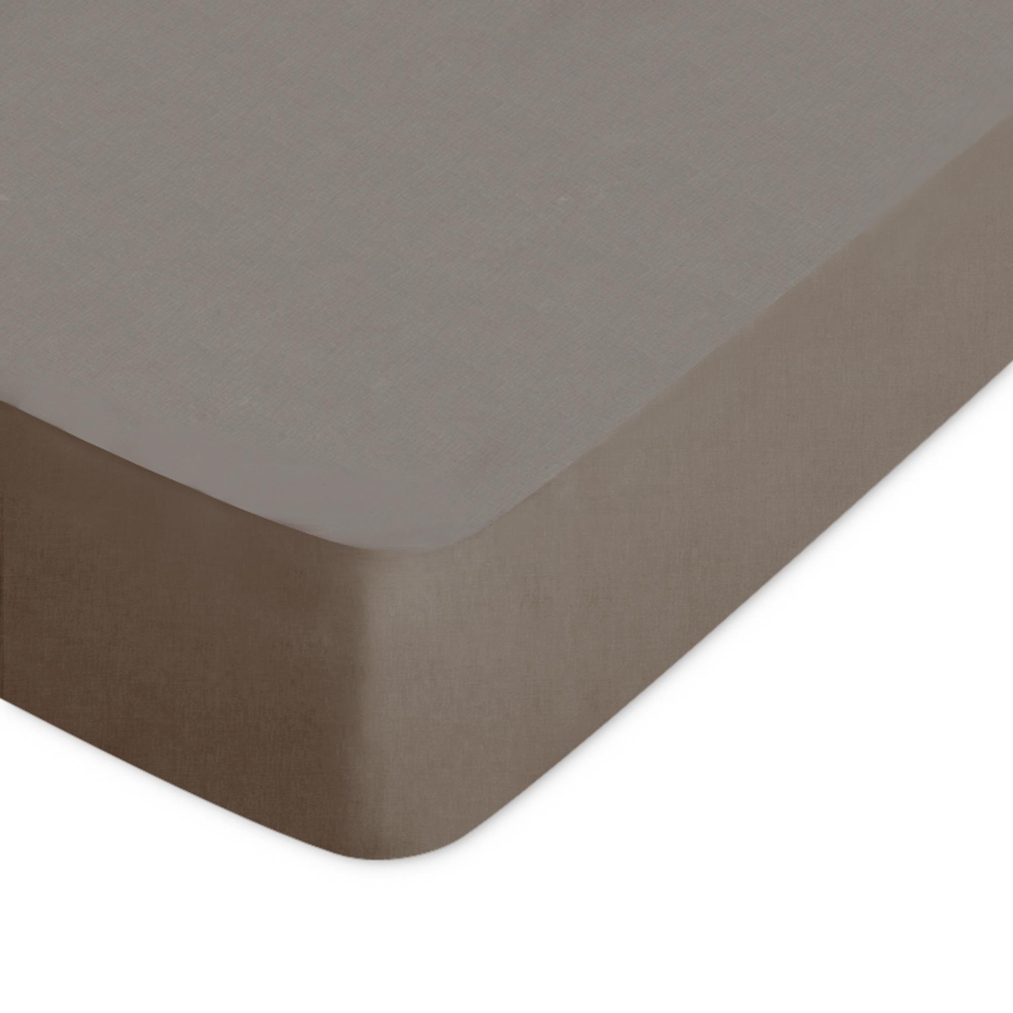 drap housse 80x200cm uni pur coton alto marron muscade linnea linge de maison et. Black Bedroom Furniture Sets. Home Design Ideas