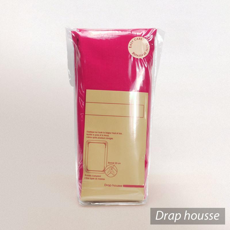 drap housse 80x200cm uni pur coton alto rose kerala linnea linge de maison et. Black Bedroom Furniture Sets. Home Design Ideas