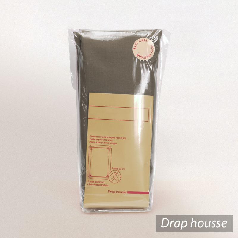 drap housse 90x190cm uni pur coton alto marron muscade linnea linge de maison et. Black Bedroom Furniture Sets. Home Design Ideas