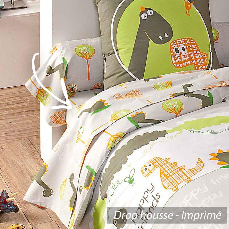 drap housse 90x190 cm dino linnea vente de linge de maison. Black Bedroom Furniture Sets. Home Design Ideas