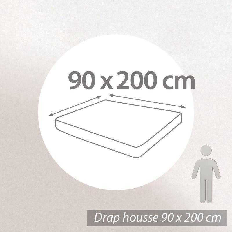 drap housse 90x200cm uni pur coton alto blanc linnea vente de linge de maison. Black Bedroom Furniture Sets. Home Design Ideas