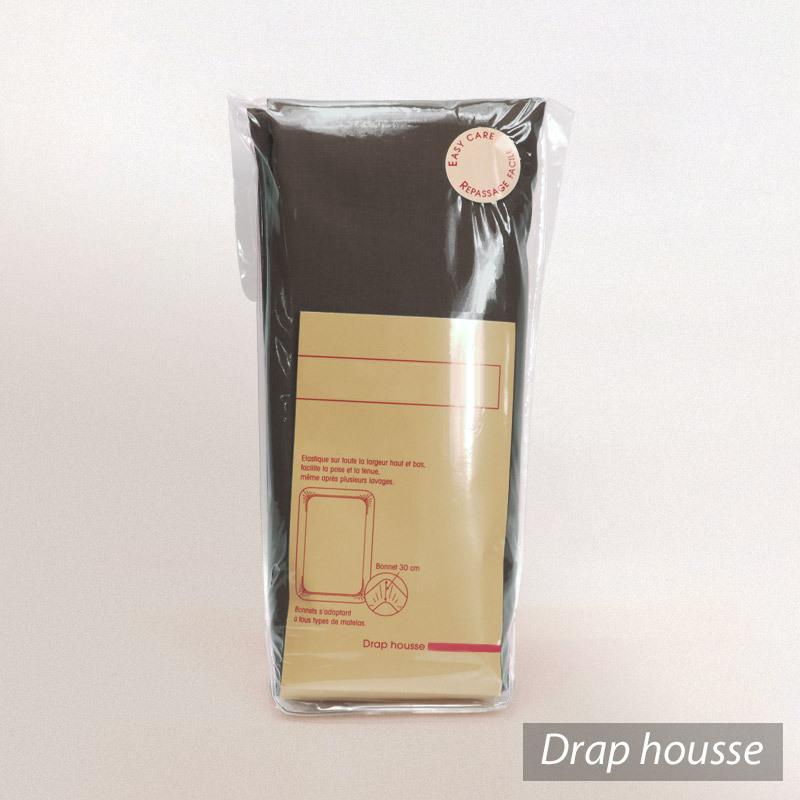 drap housse 90x200cm uni pur coton alto marron mangan se linnea vente de linge de maison. Black Bedroom Furniture Sets. Home Design Ideas