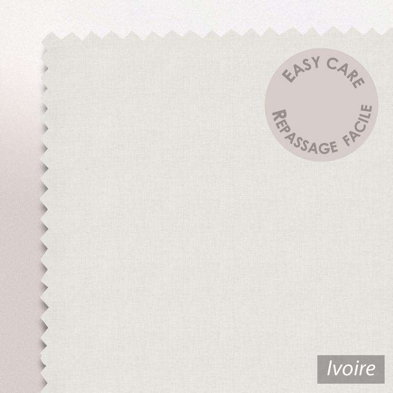 drap housse relaxation 2x100x190cm uni pur coton alto ivoire tpr t te et pied relevable. Black Bedroom Furniture Sets. Home Design Ideas
