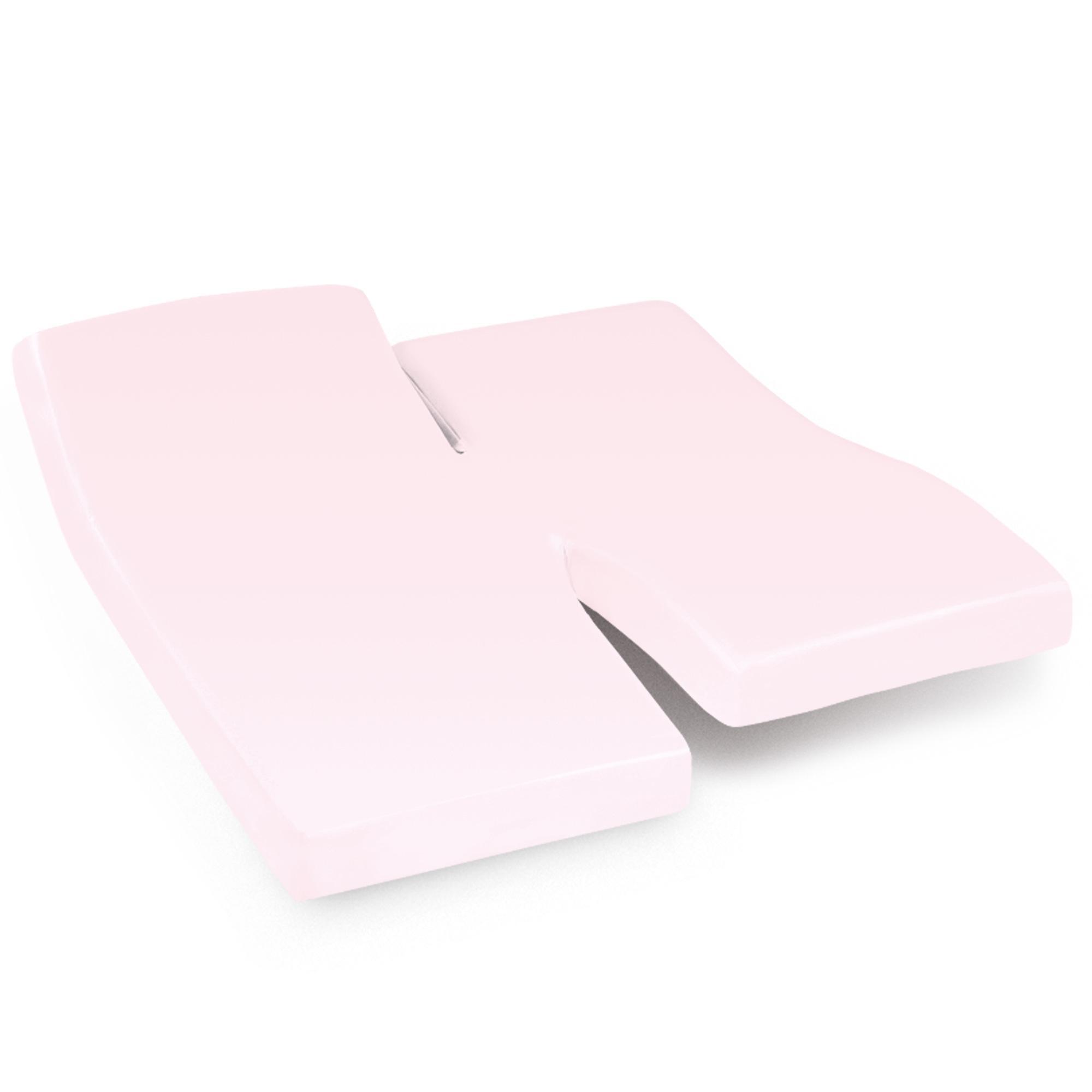 drap housse relaxation 2x100x190cm uni pur coton alto rose blush tpr t te et pied relevable. Black Bedroom Furniture Sets. Home Design Ideas