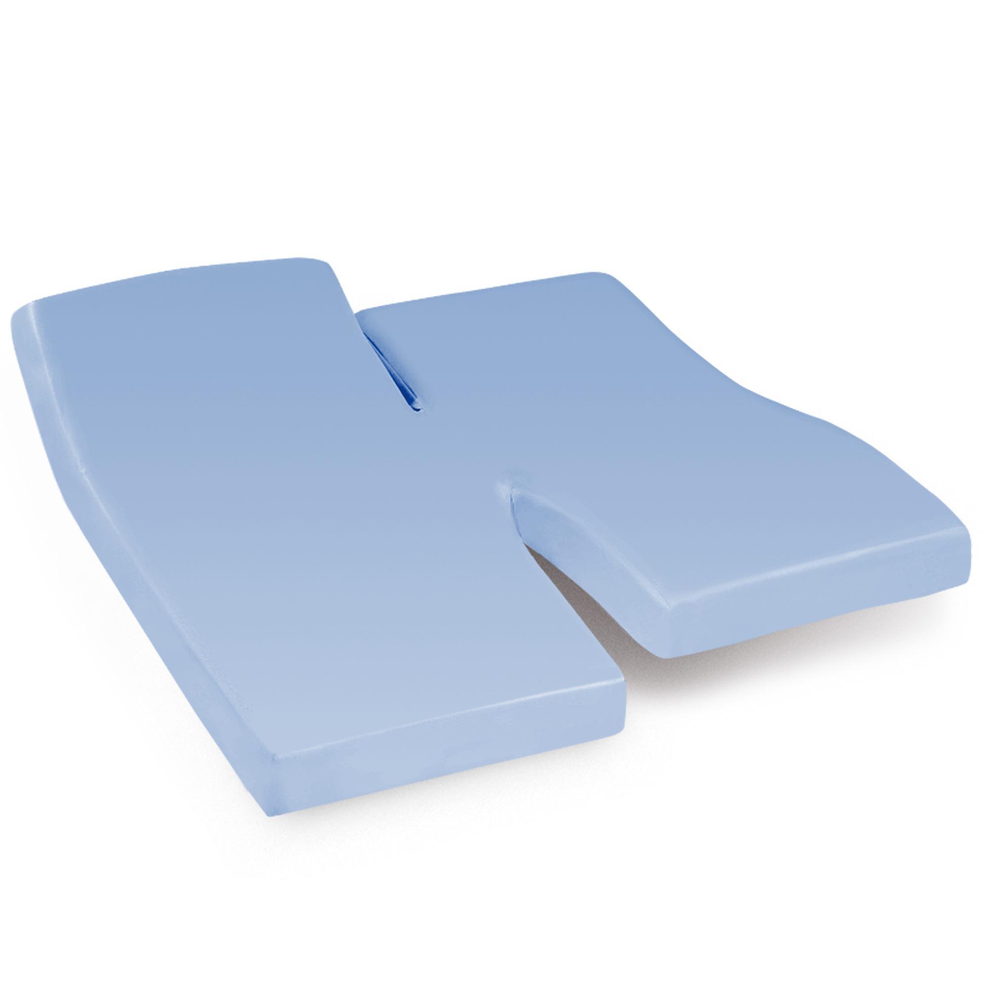 Drap housse relaxation 2x80x200cm uni pur coton alto bleu for Drap housse 2x80x200
