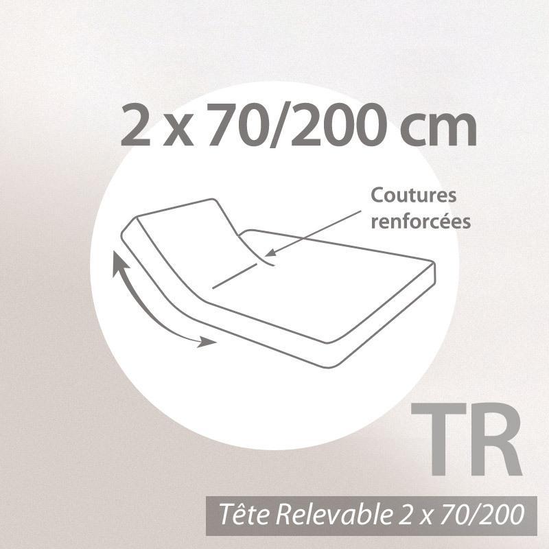 drap housse relaxation 2x70x200cm uni pur coton alto rouge garance tr t te relevable. Black Bedroom Furniture Sets. Home Design Ideas
