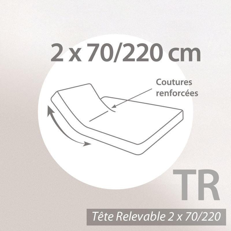 drap housse relaxation 2x70x220cm uni pur coton alto violet violine tr t te relevable. Black Bedroom Furniture Sets. Home Design Ideas