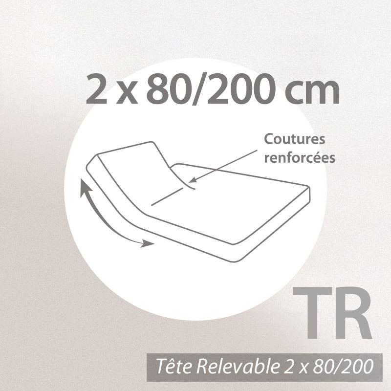 drap housse relaxation 2x80x200cm uni pur coton alto marron muscade tr t te. Black Bedroom Furniture Sets. Home Design Ideas