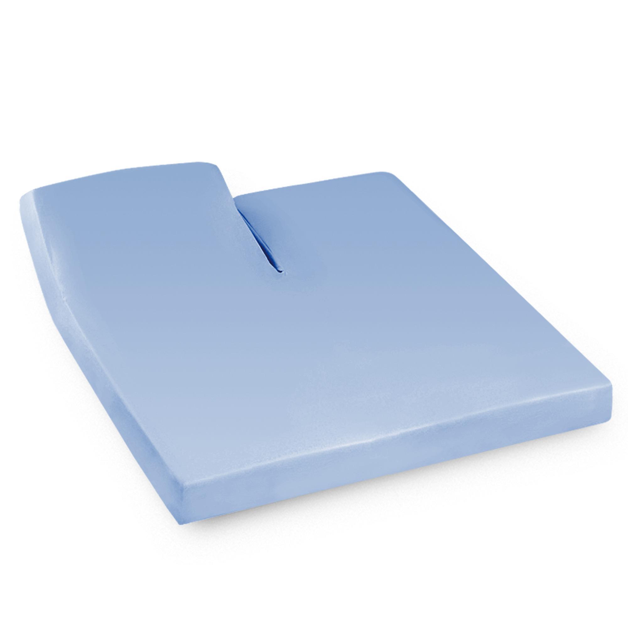 Drap housse relaxation 2x90x190cm uni pur coton ALTO bleu Belle