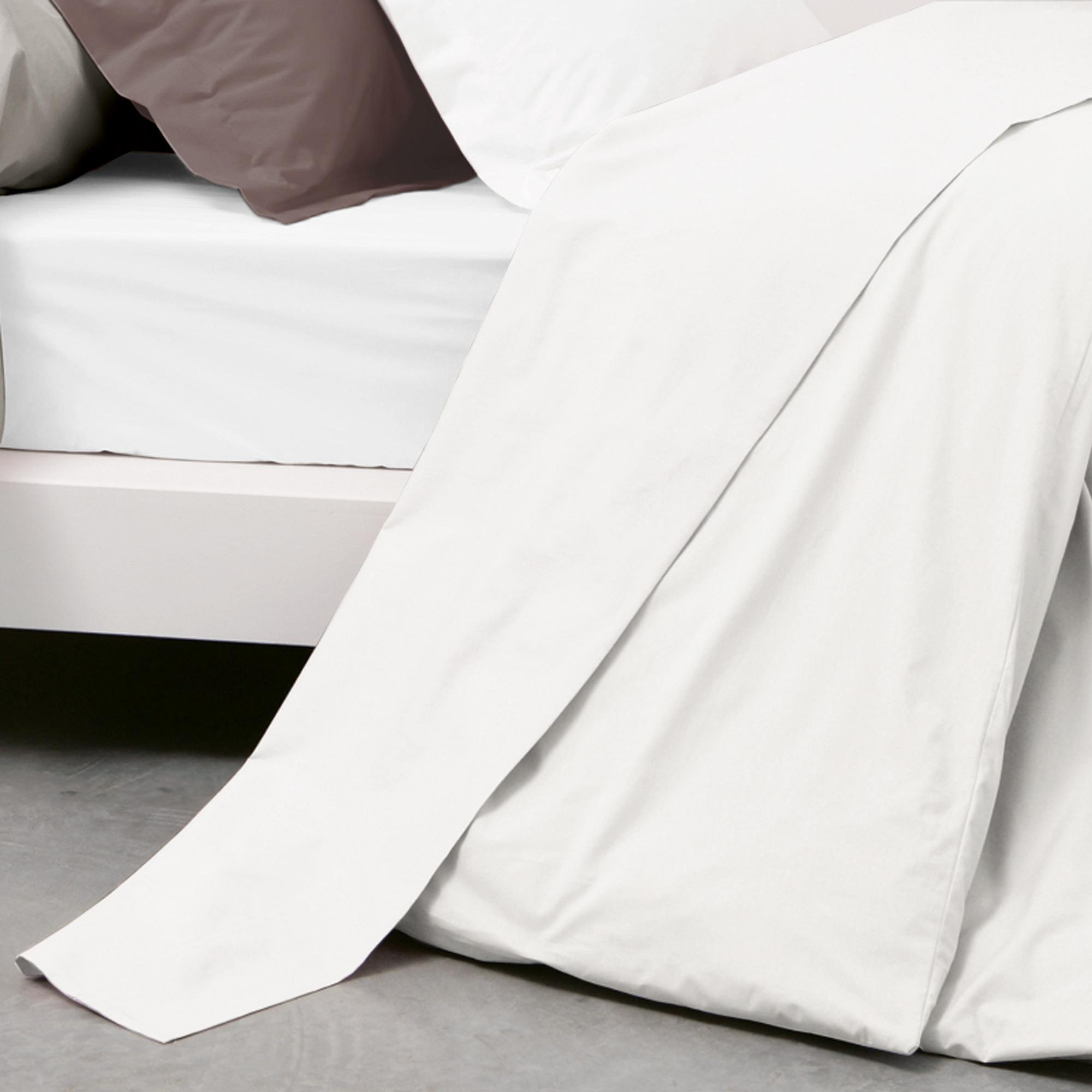 drap plat 180x290cm uni pur coton alto blanc linnea vente de linge de maison. Black Bedroom Furniture Sets. Home Design Ideas