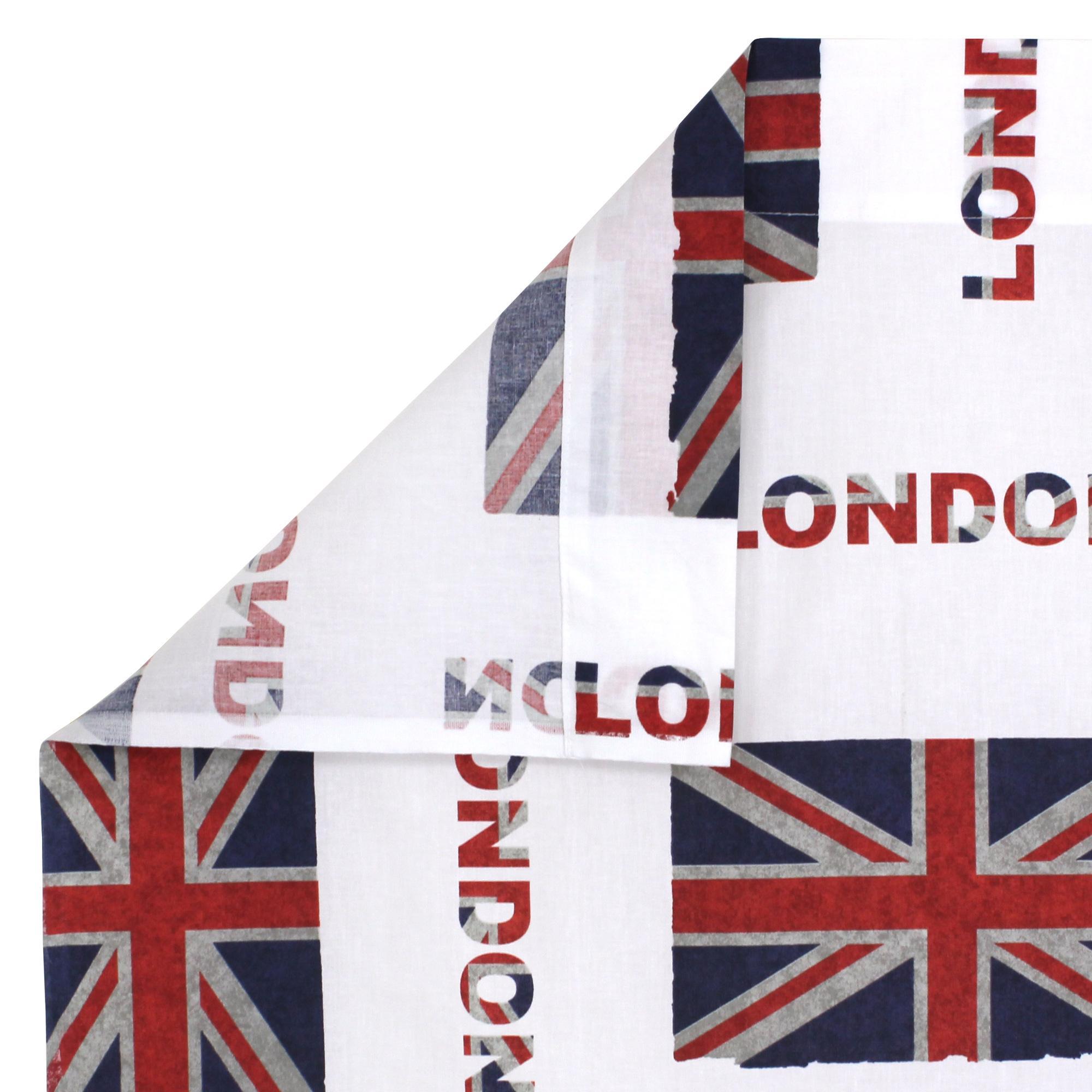 Drap plat 180x290 cm 100 coton jack london city linnea - Drap de lit london ...