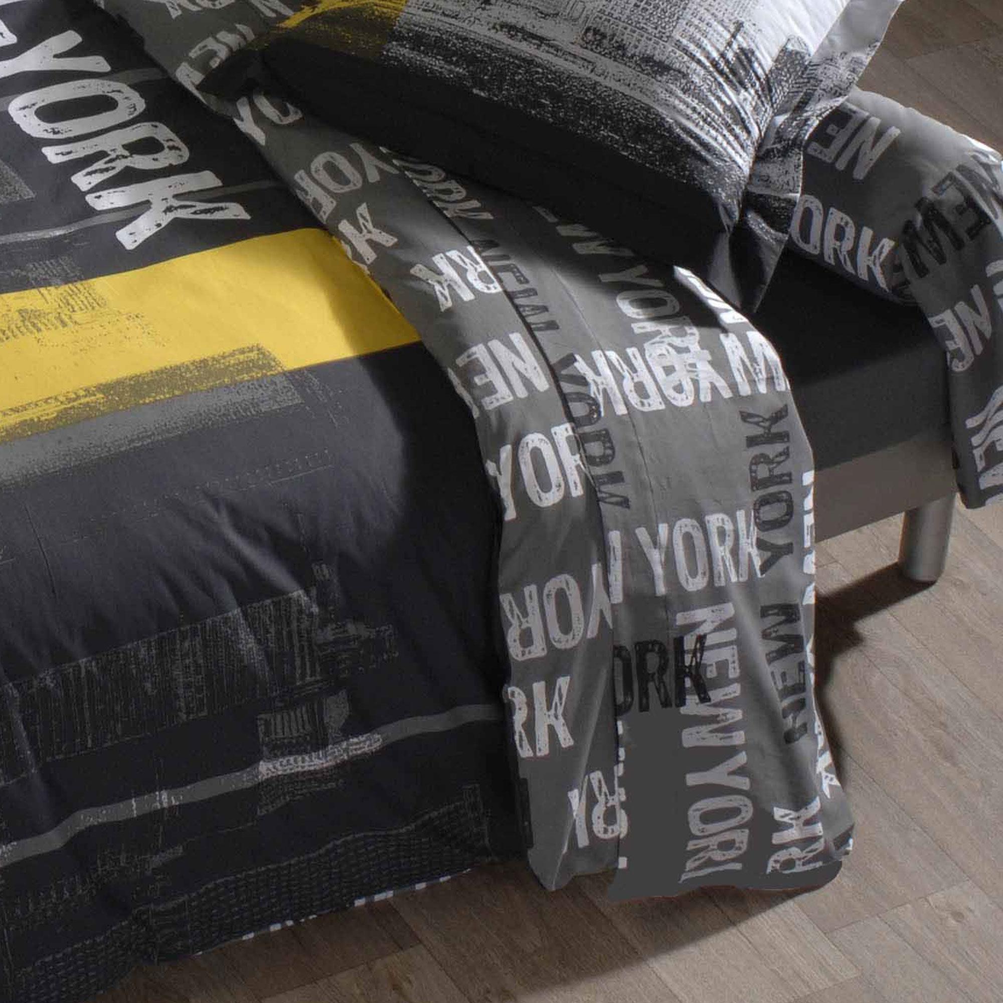 drap plat 180x290 cm new york linnea linge de maison et. Black Bedroom Furniture Sets. Home Design Ideas