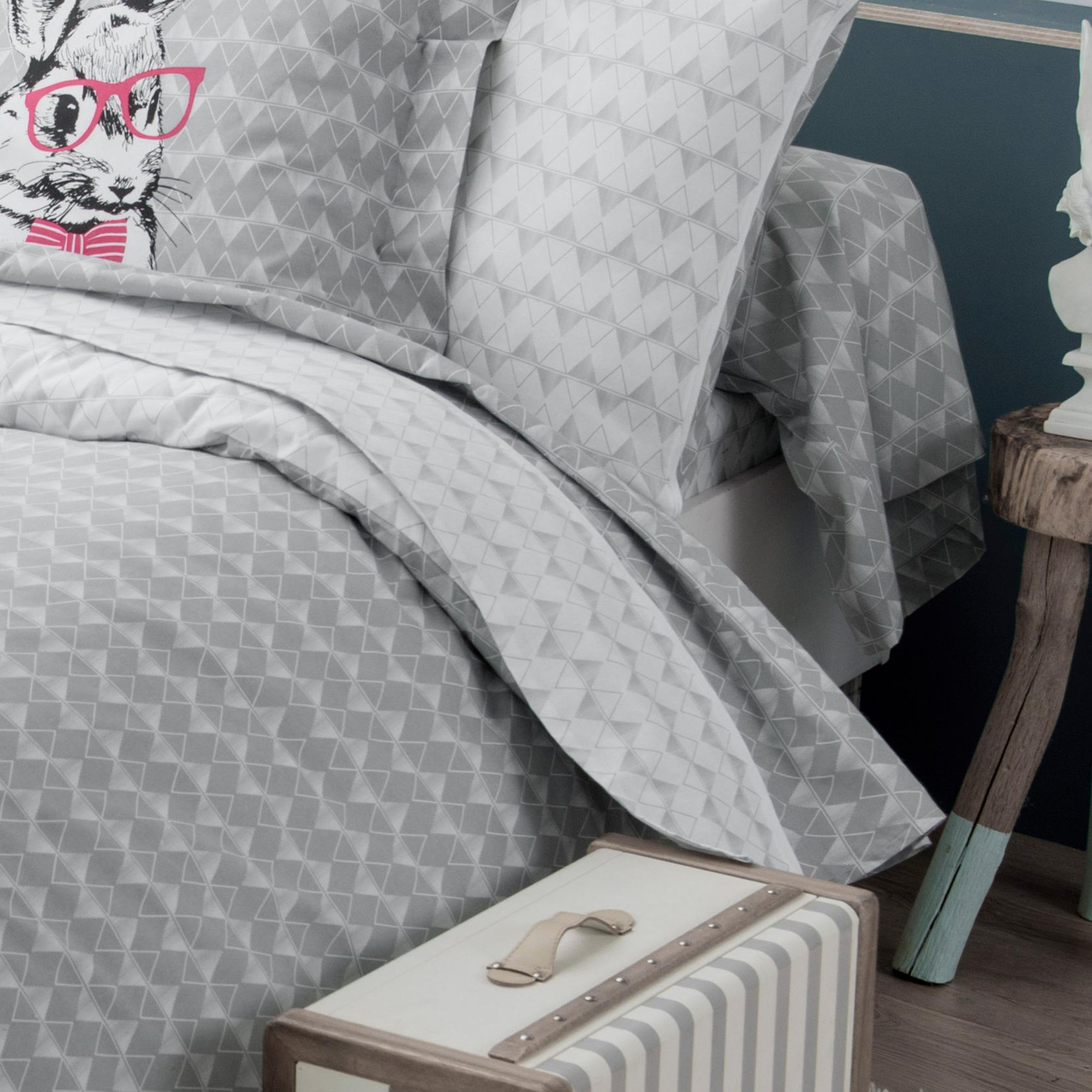 drap plat 180x290 cm 100 coton bunny linnea vente de. Black Bedroom Furniture Sets. Home Design Ideas