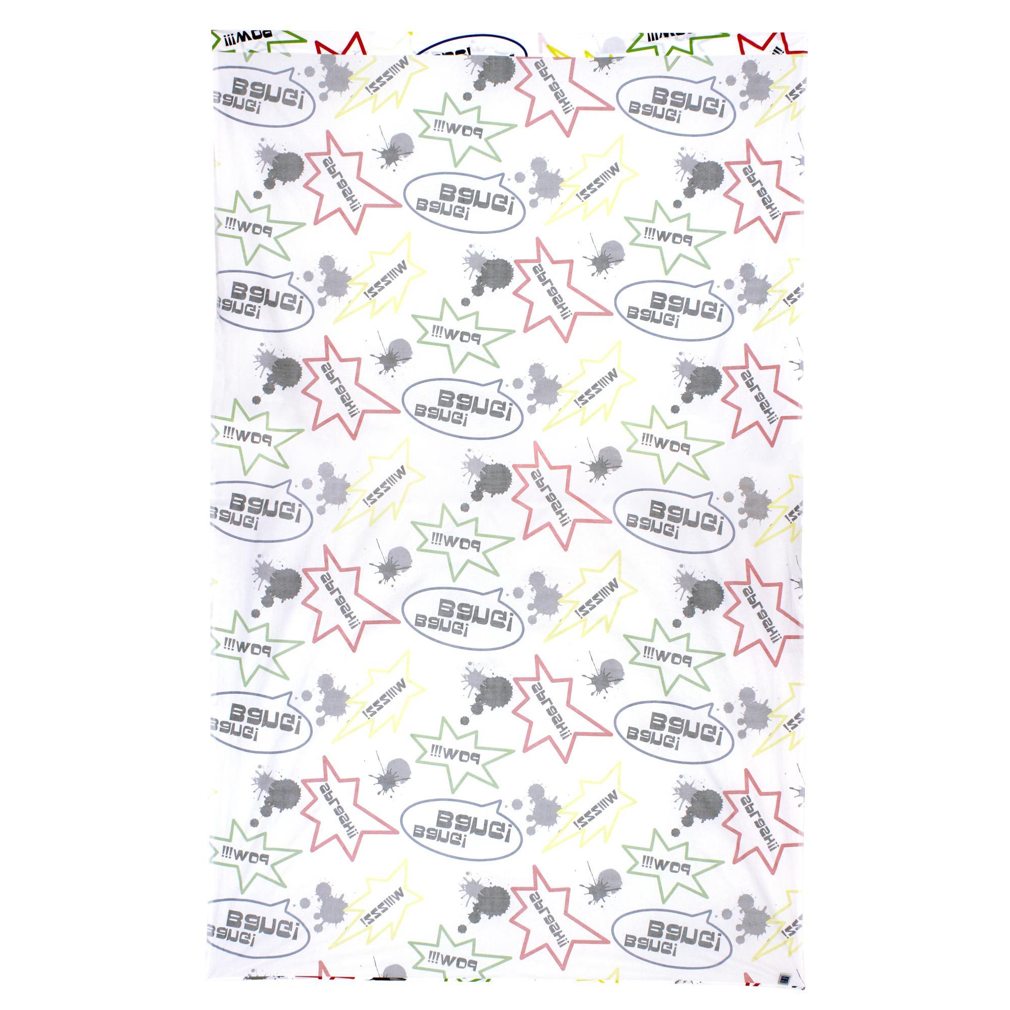 drap plat 180x290 cm 100 coton comics linnea vente de linge de maison. Black Bedroom Furniture Sets. Home Design Ideas