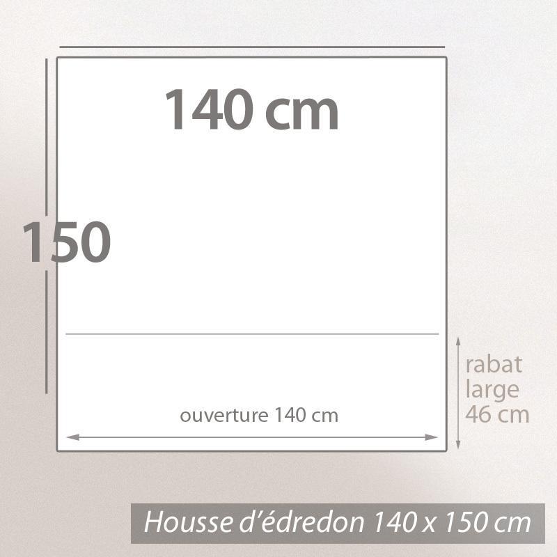 Housse d 39 dredon 140x150cm uni pur coton alto gris for Housse de couette 140 x 150