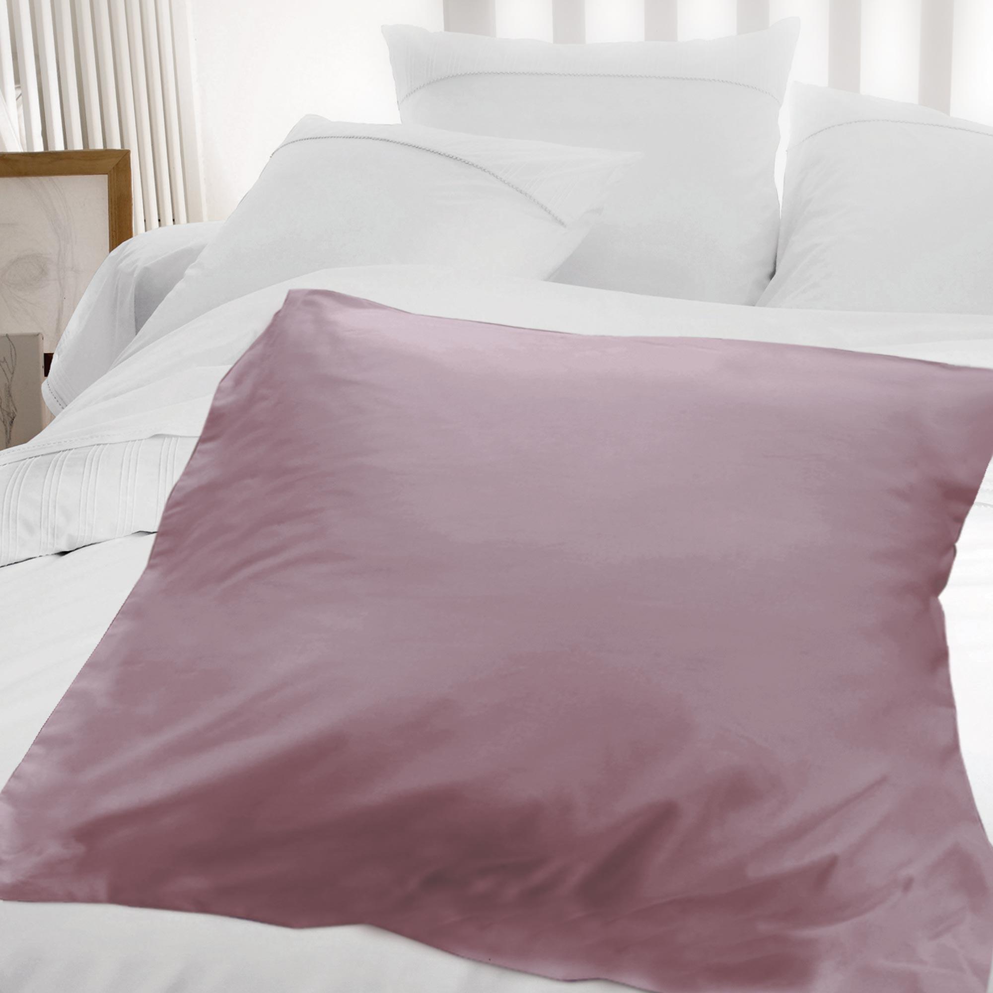 Housse d 39 dredon 140x150cm uni pur coton alto violet for Housse edredon