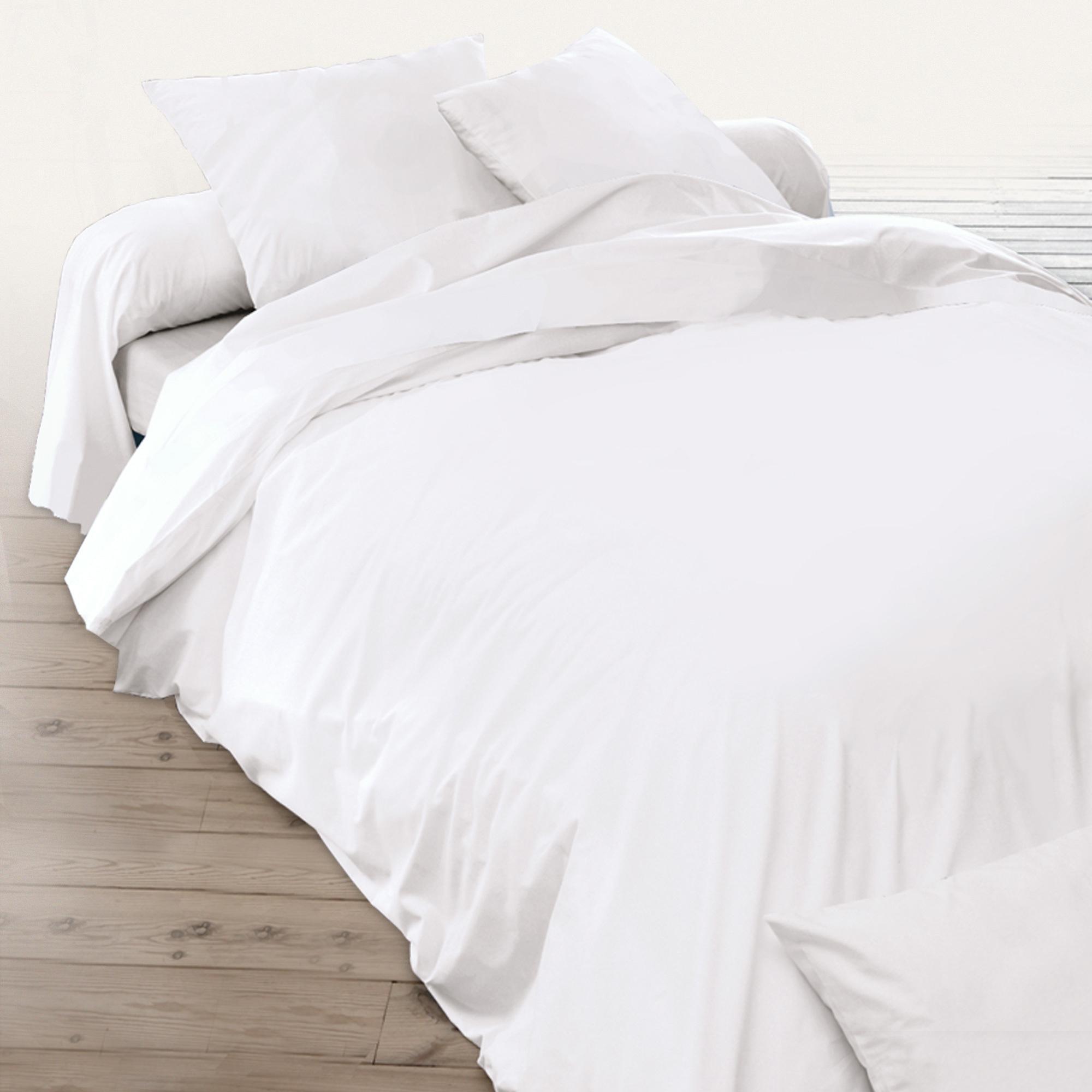 Housse de couette 140x200cm uni pur coton alto blanc - Housse de couette 140x200 100 coton ...