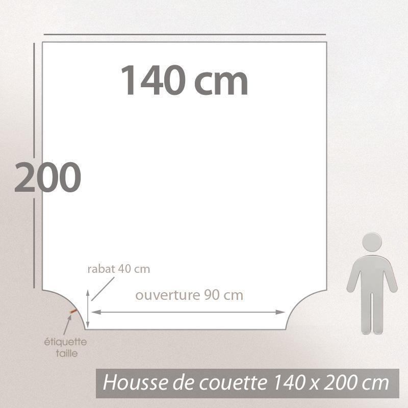 Housse de couette 140x200cm uni pur coton ALTO rouge Garance