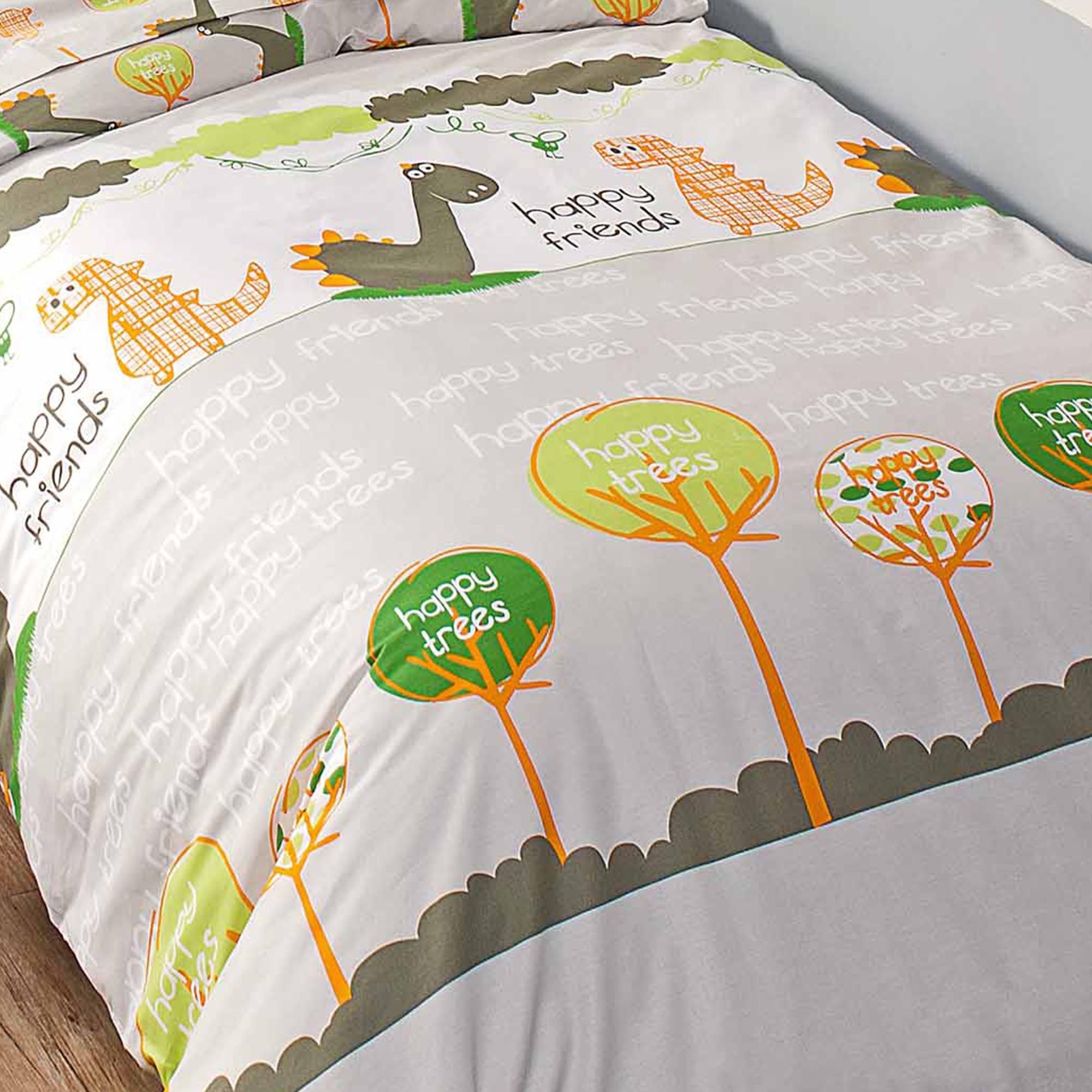 housse de couette 140x200 cm dino linnea linge de maison et. Black Bedroom Furniture Sets. Home Design Ideas
