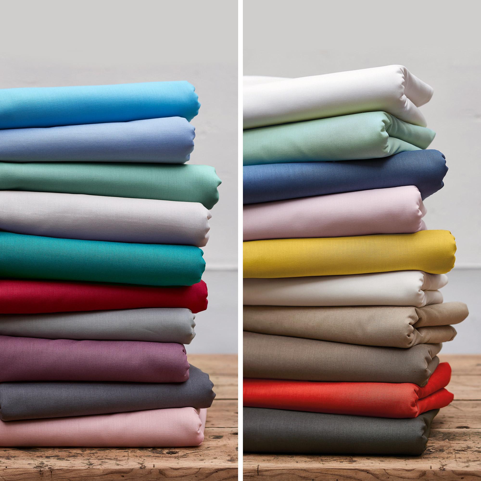 Housse De Couette 200x200cm Uni Pur Coton Alto Blanc
