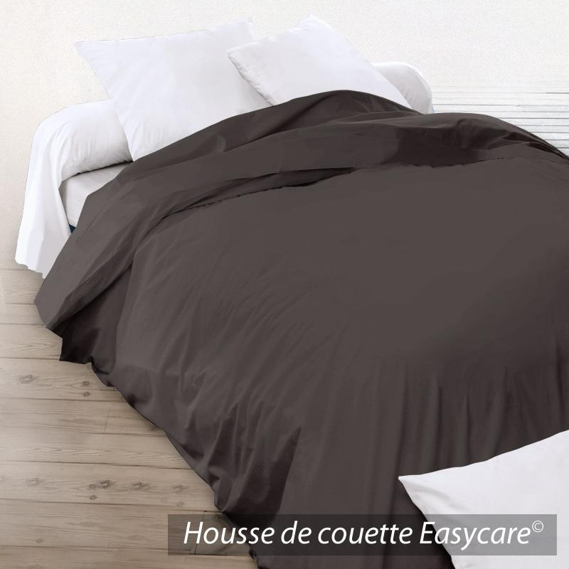 housse de couette 200x200cm uni pur coton alto marron mangan se linnea vente de linge de maison. Black Bedroom Furniture Sets. Home Design Ideas