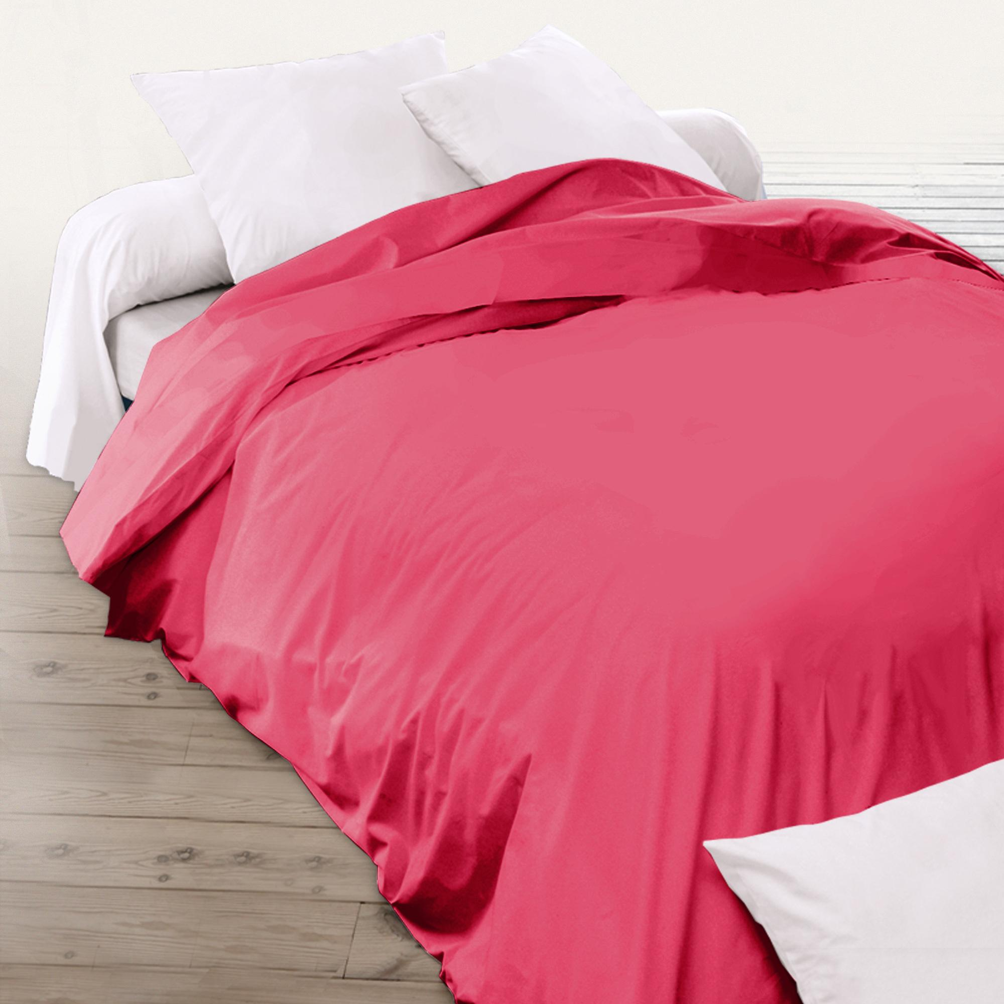 housse de couette 200x200cm uni pur coton alto rose kerala linnea linge de maison et. Black Bedroom Furniture Sets. Home Design Ideas