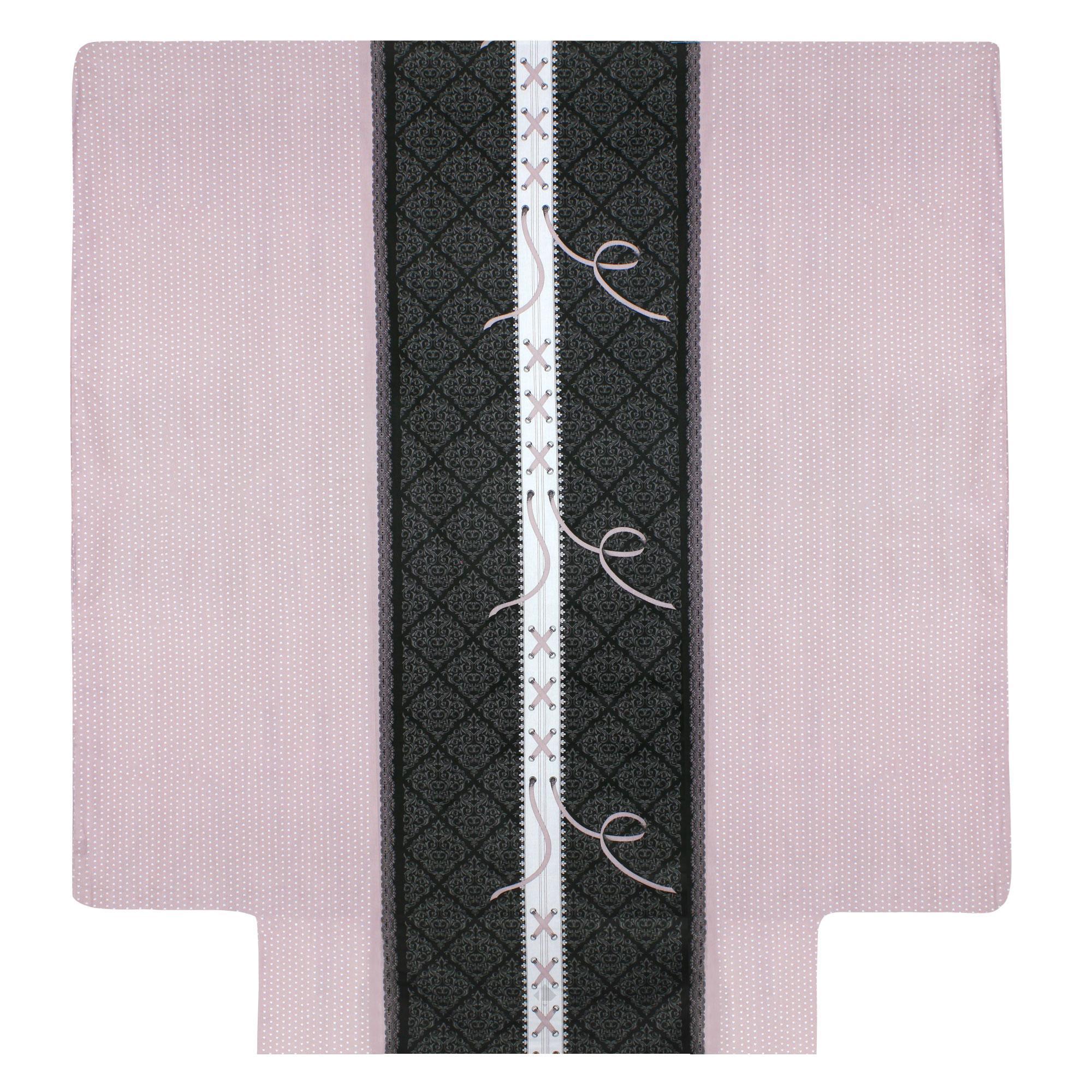 Housse de couette 200x200 cm 100 coton glamour rose - Housse de couette glamour ...