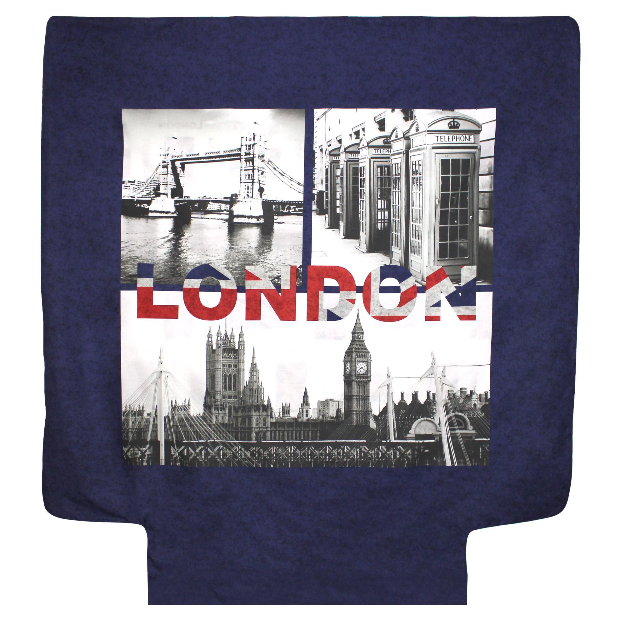 Housse de couette 200x200 cm 100 coton jack london city for Housse de couette london 200x200