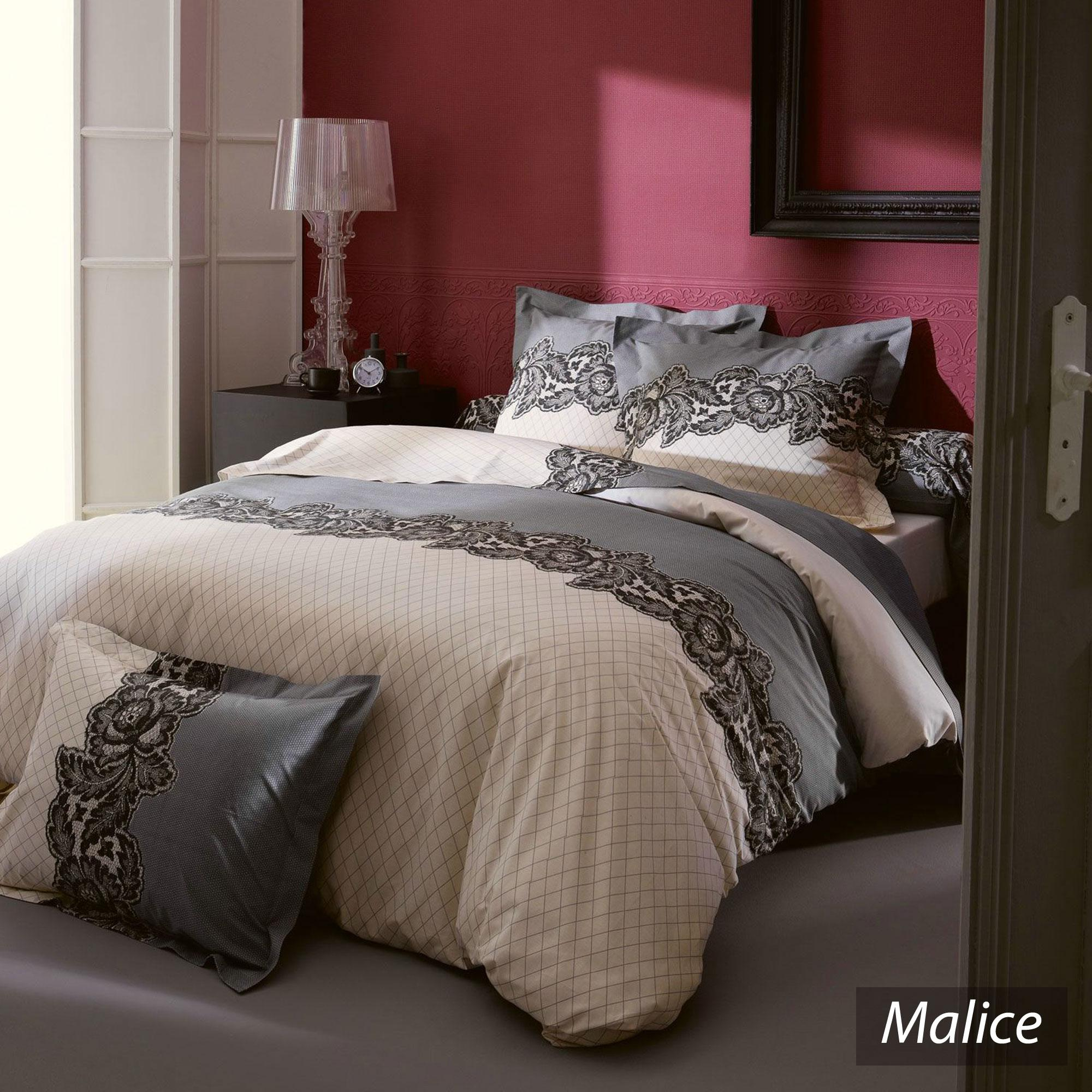 housse de couette 200x200 cm malice linnea vente de linge de maison. Black Bedroom Furniture Sets. Home Design Ideas