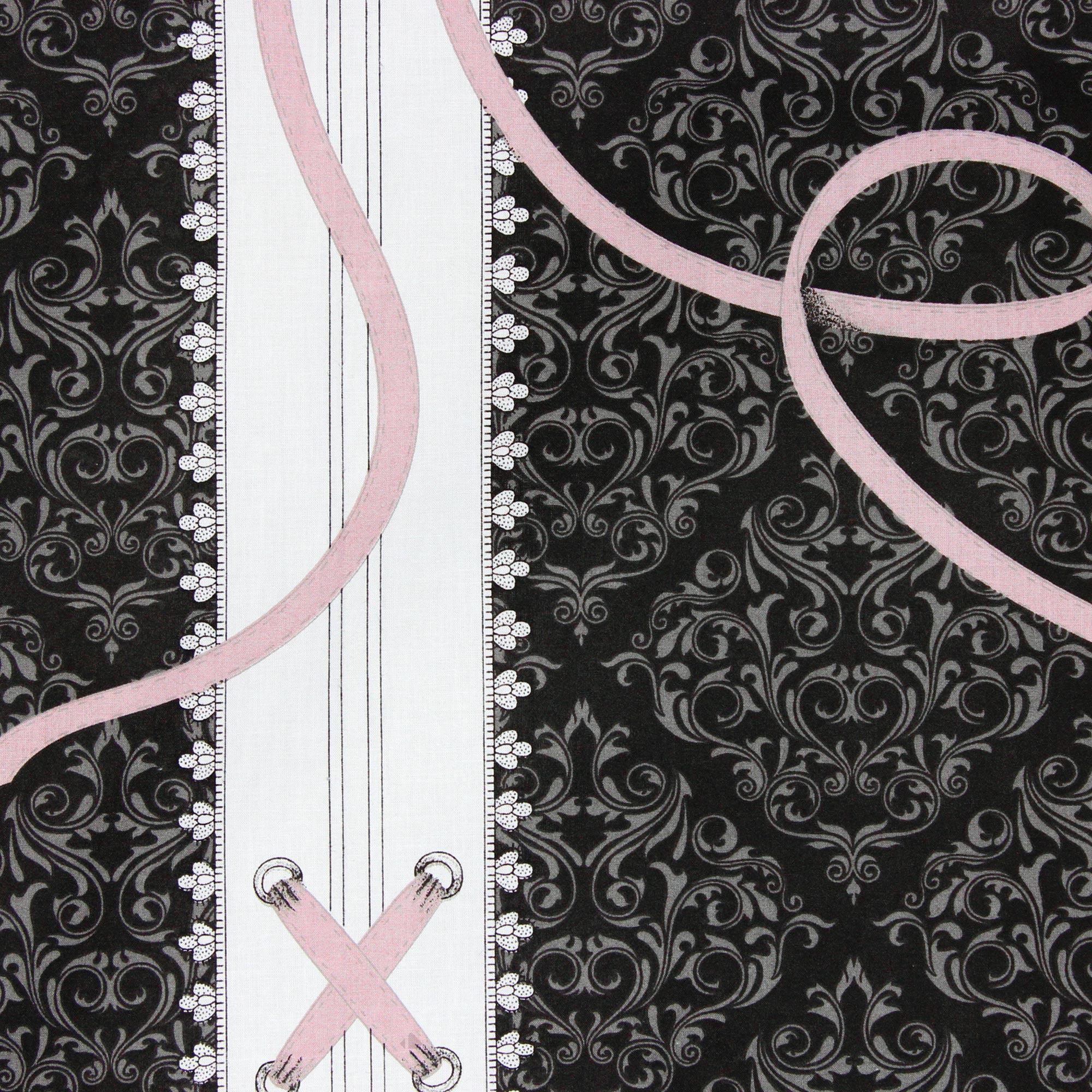 Housse de couette 240x220 cm 100 coton glamour rose - Housse de couette glamour ...