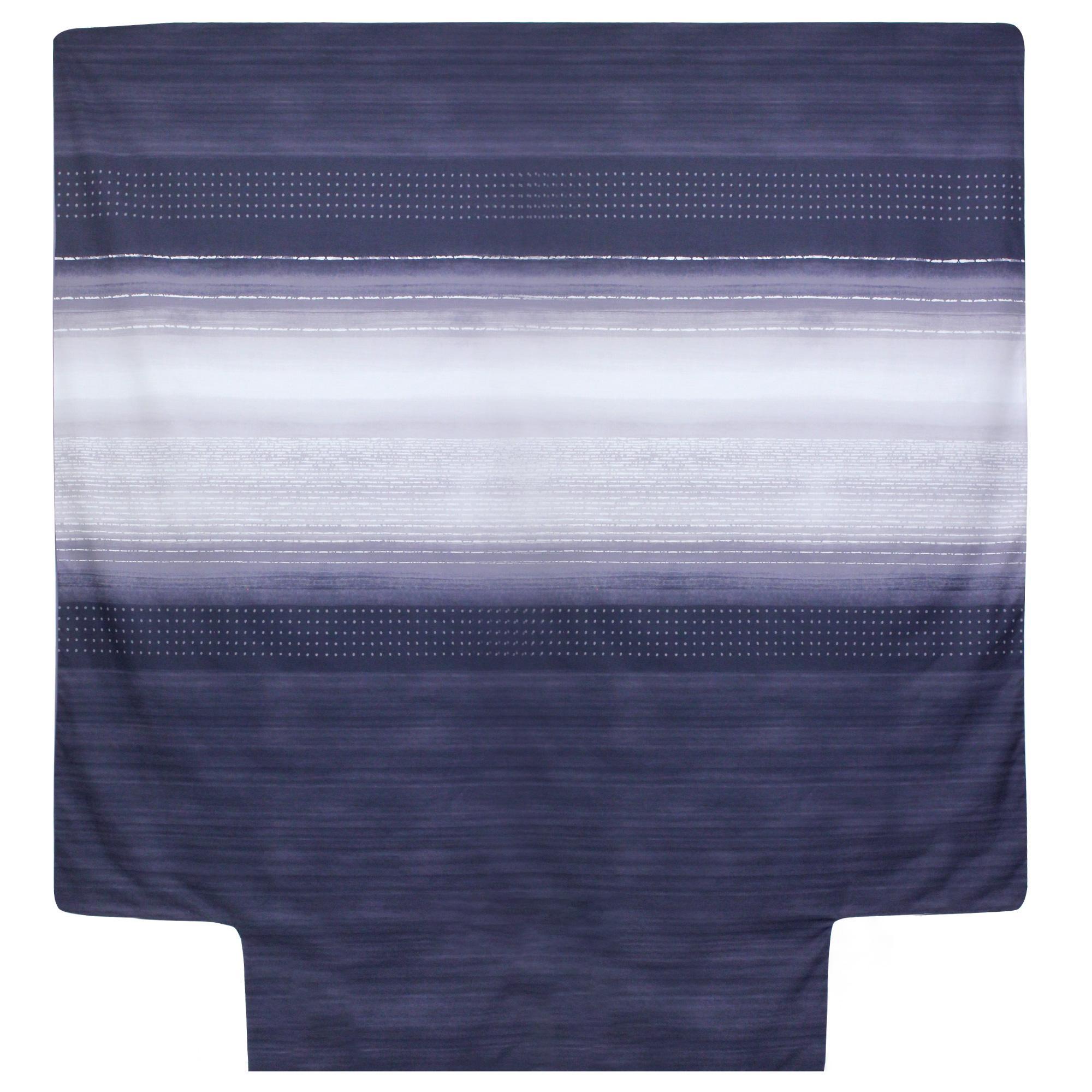 housse de couette 240x220 cm percale pur coton jazz bleu linnea linge de maison et. Black Bedroom Furniture Sets. Home Design Ideas