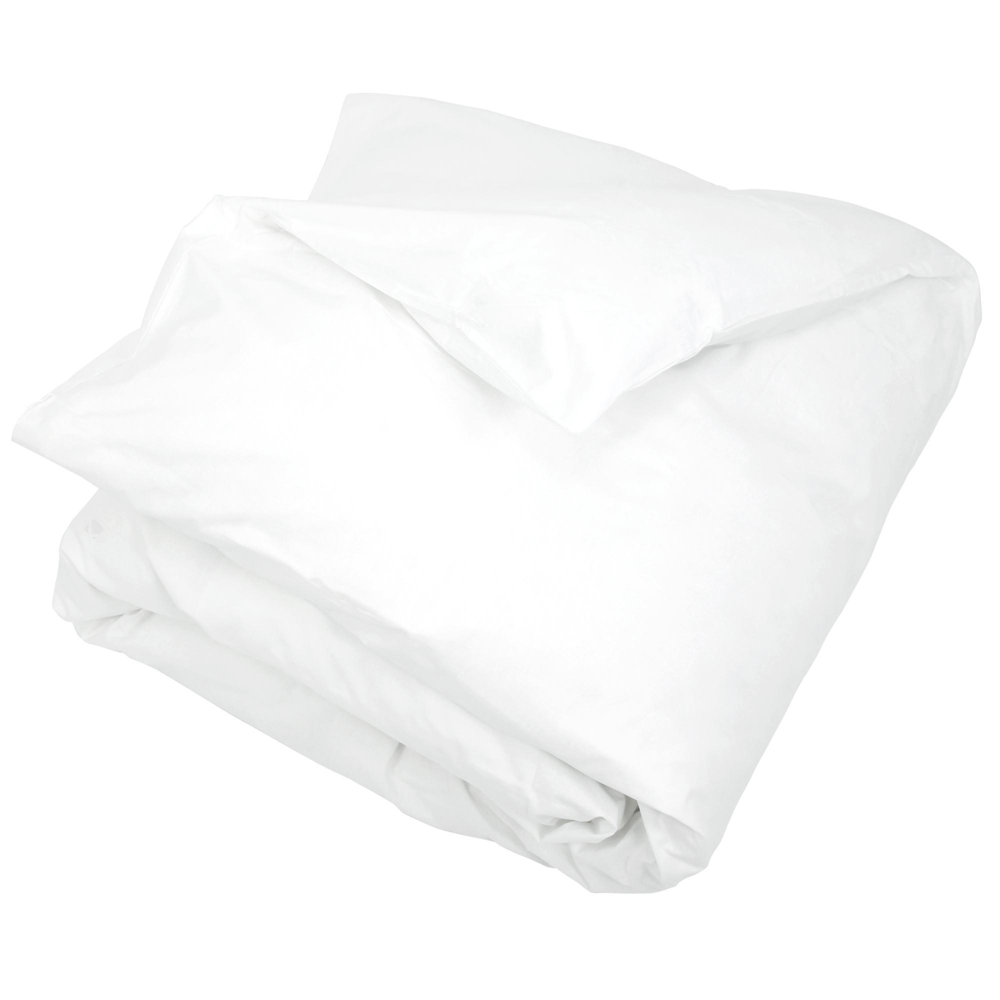 housse de couette 240x260cm uni pur percale primo blanc linnea linge de maison et. Black Bedroom Furniture Sets. Home Design Ideas