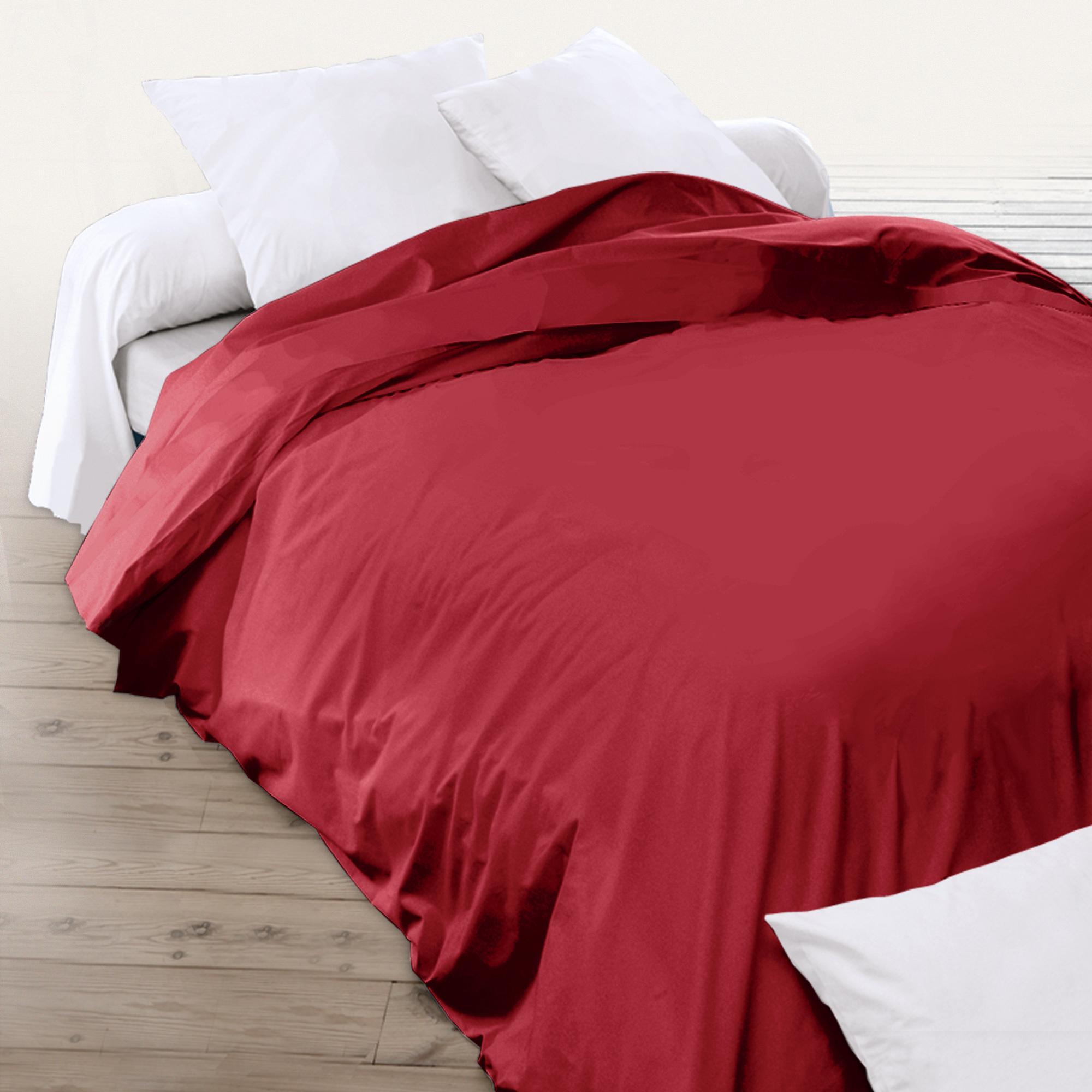 housse de couette 260x240cm uni pur coton alto rouge garance linnea vente de linge de maison. Black Bedroom Furniture Sets. Home Design Ideas