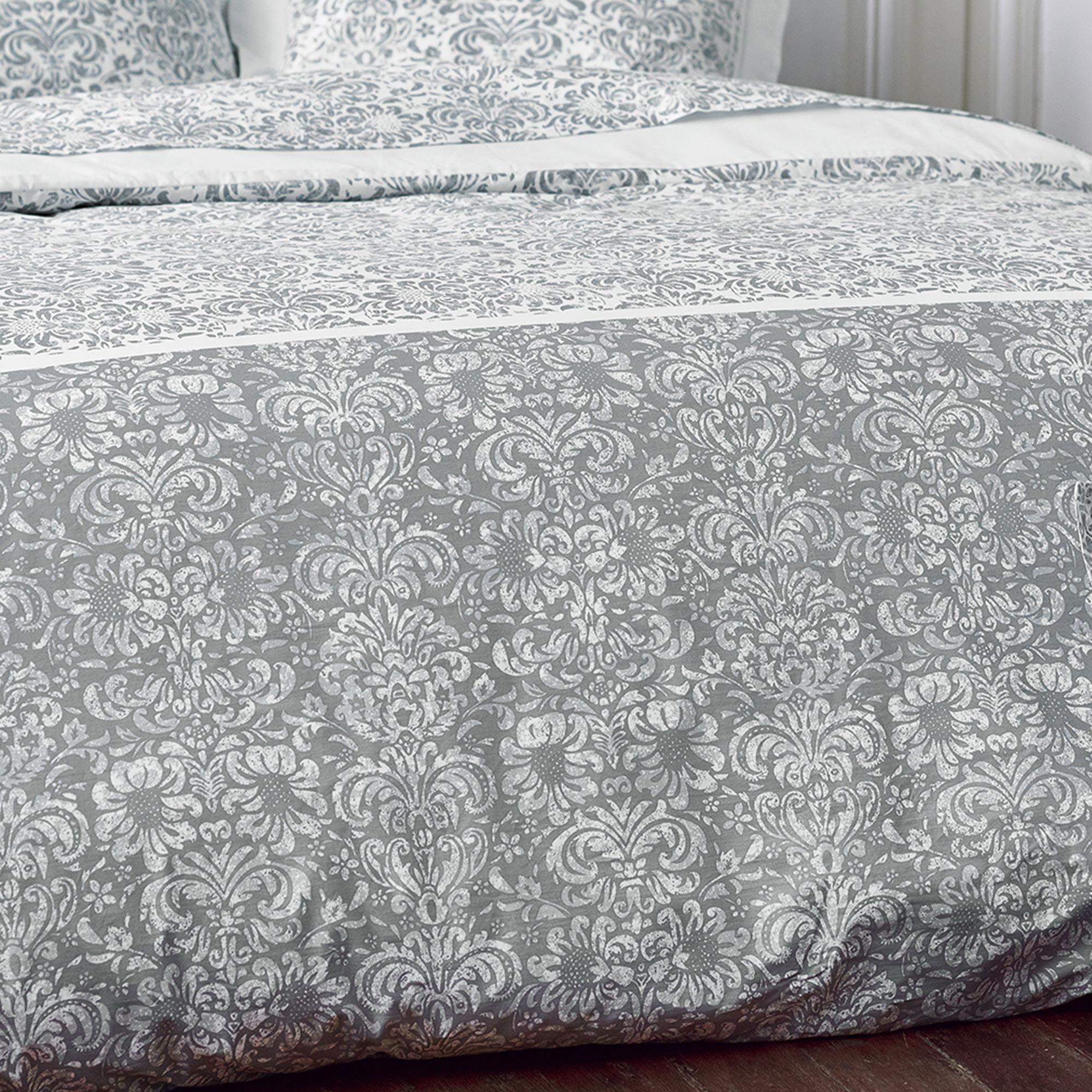 housse de couette 280x240 cm percale pur coton amboise. Black Bedroom Furniture Sets. Home Design Ideas