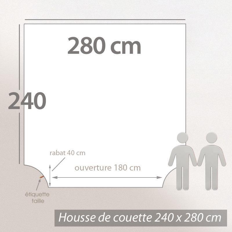 housse de couette 280x240cm uni pur coton alto blanc. Black Bedroom Furniture Sets. Home Design Ideas