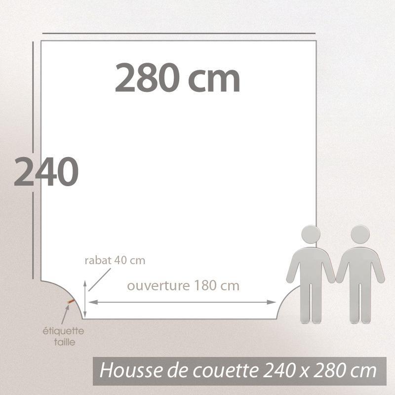 Housse de couette 280x240cm uni pur coton alto gris for Dimension housse de couette