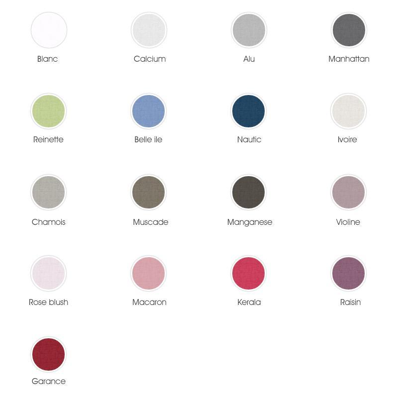 housse de couette 280x240cm uni pur coton alto gris calcium linnea linge de maison et. Black Bedroom Furniture Sets. Home Design Ideas
