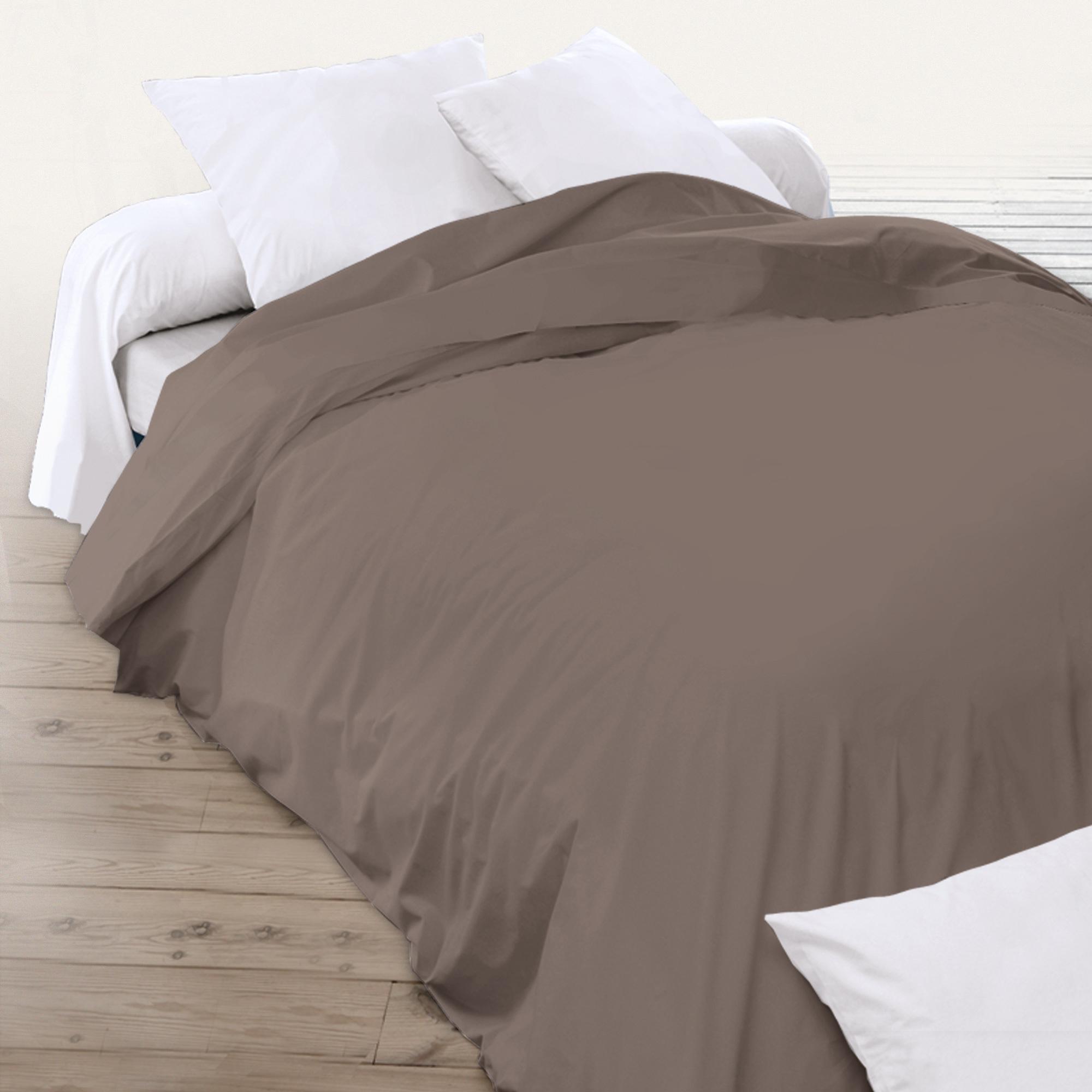 housse de couette 280x240cm uni pur coton alto marron muscade linnea linge de maison et. Black Bedroom Furniture Sets. Home Design Ideas
