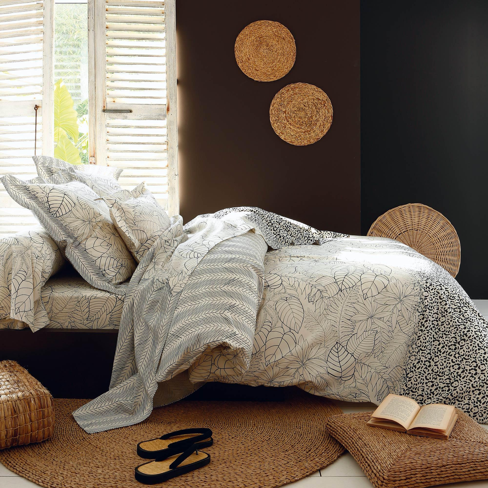 housse de couette 280x240 cm 100 coton natura ecru linnea vente de linge de maison. Black Bedroom Furniture Sets. Home Design Ideas
