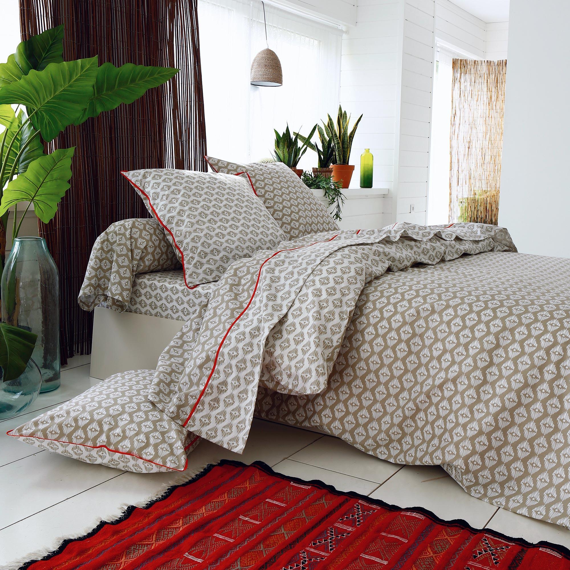 housse de couette 300x240 cm 100 coton acapulco linnea linge de maison et. Black Bedroom Furniture Sets. Home Design Ideas
