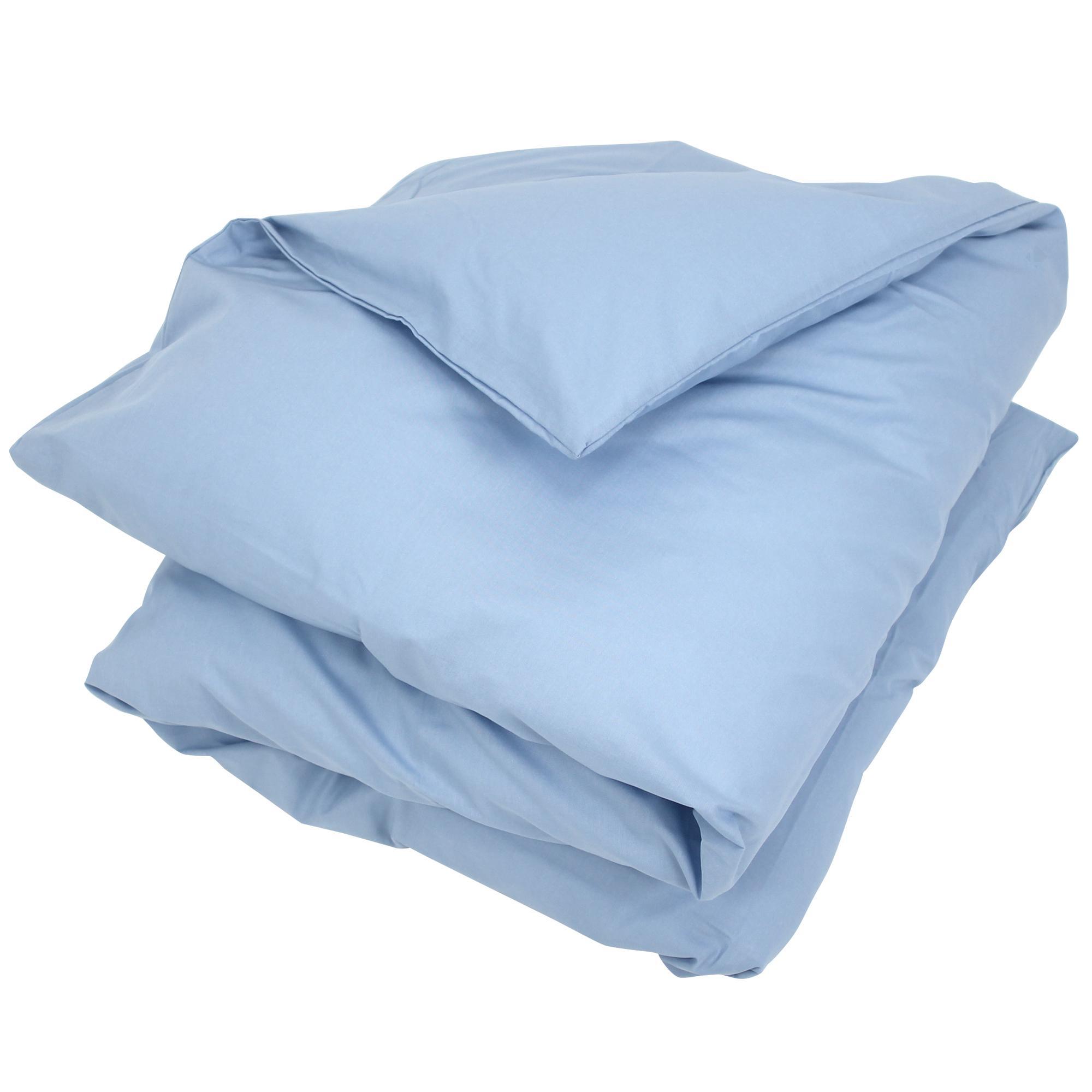 housse de couette 300x240cm uni pur coton alto bleu belle ile linnea linge de maison et. Black Bedroom Furniture Sets. Home Design Ideas