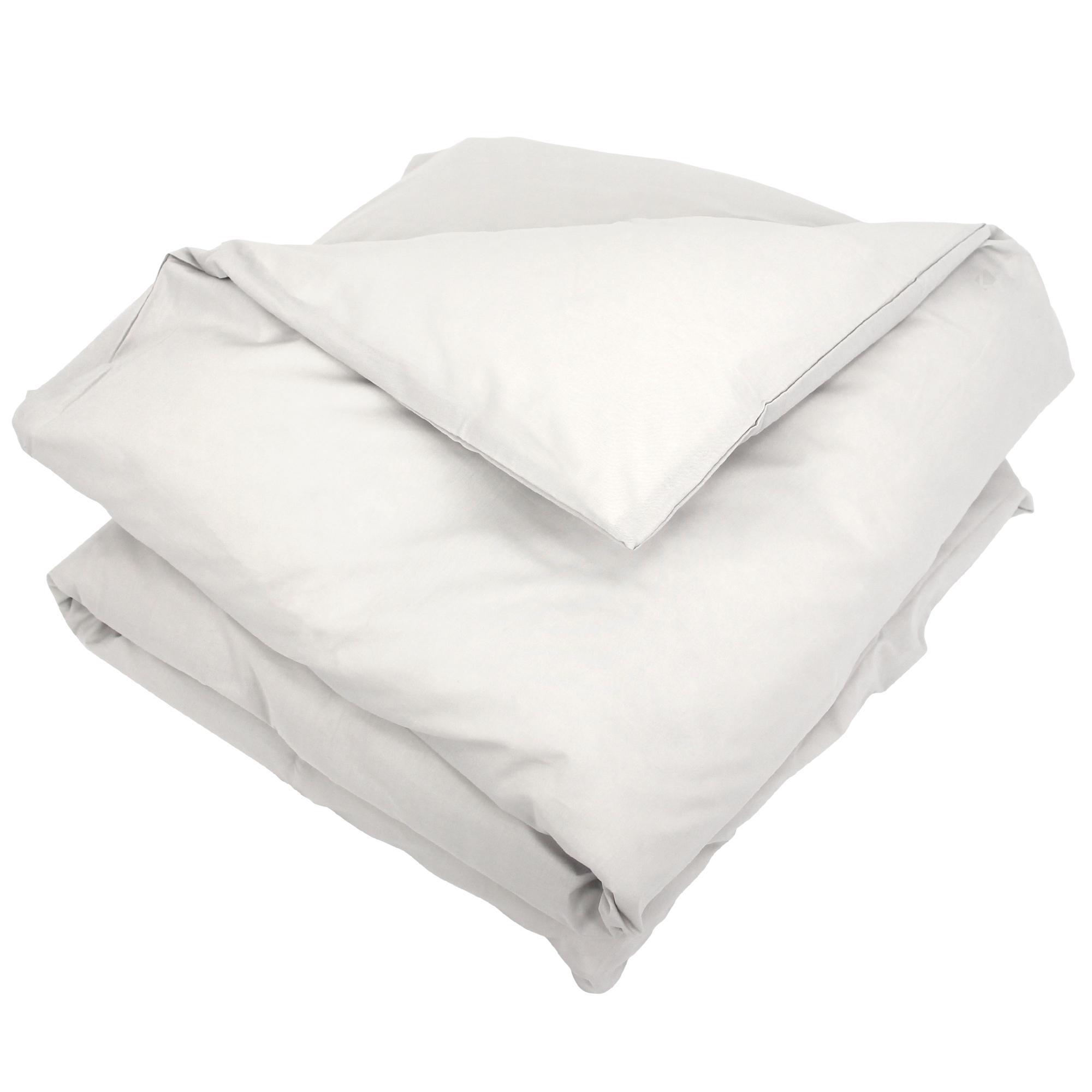 housse de couette 300x240cm uni pur coton alto gris calcium linnea linge de maison et. Black Bedroom Furniture Sets. Home Design Ideas