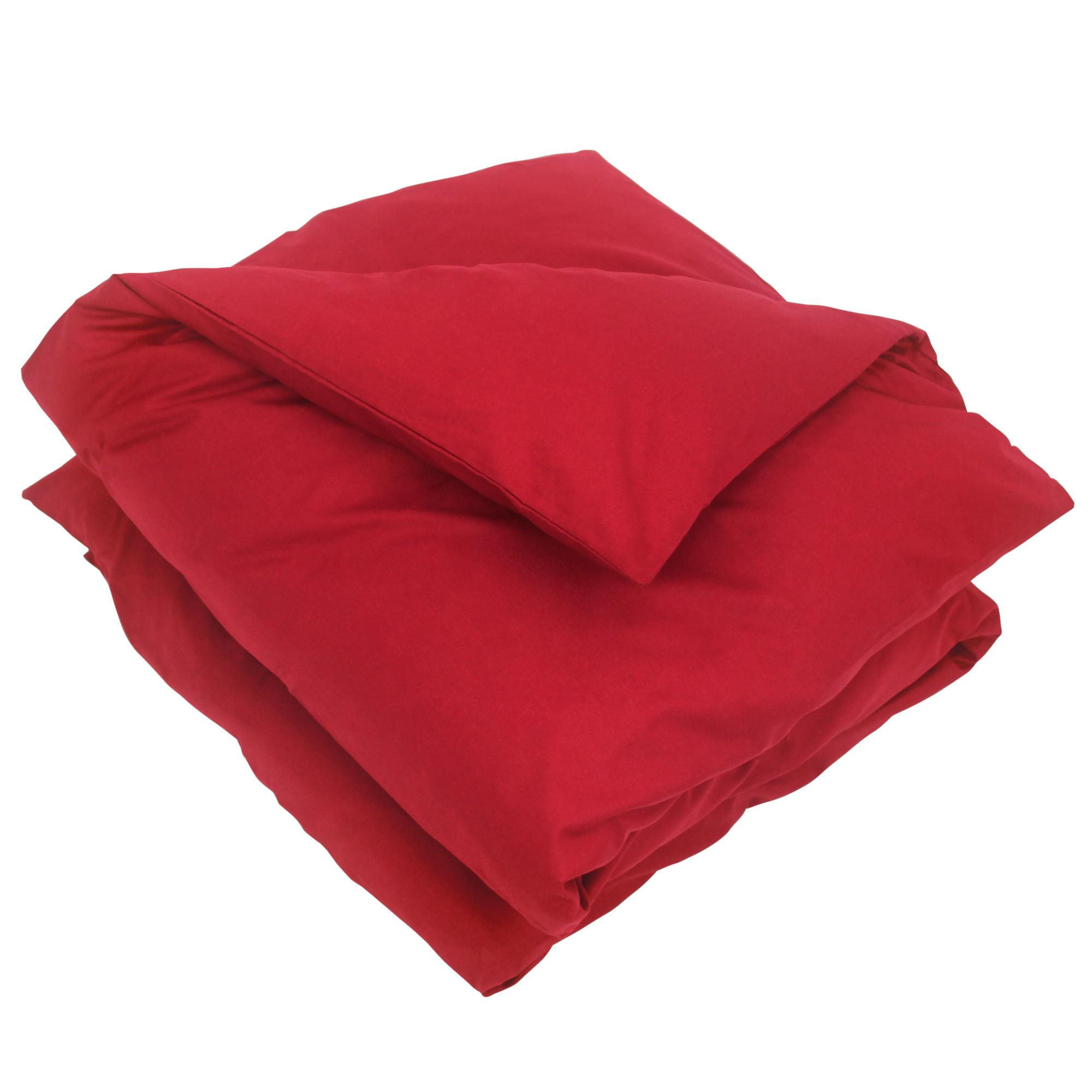 housse de couette 300x240cm uni pur coton alto rouge garance linnea linge de maison et. Black Bedroom Furniture Sets. Home Design Ideas