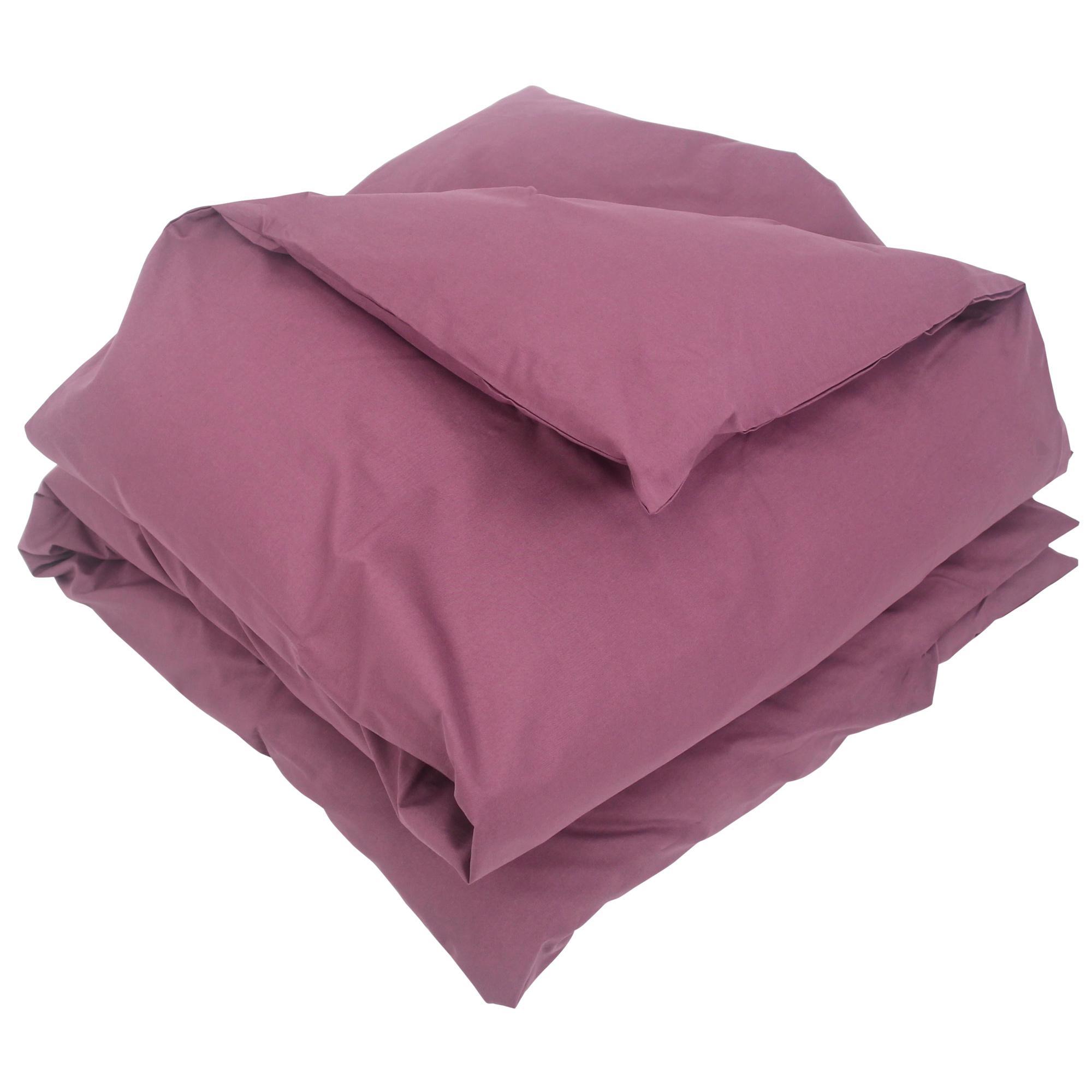 housse de couette 300x240cm uni pur coton alto violet raisin linnea linge de maison et. Black Bedroom Furniture Sets. Home Design Ideas